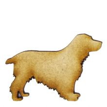 Cocker Spaniel - 3mm MDF Laser Cut Craft Blank Scrapbook Topper Pyrography
